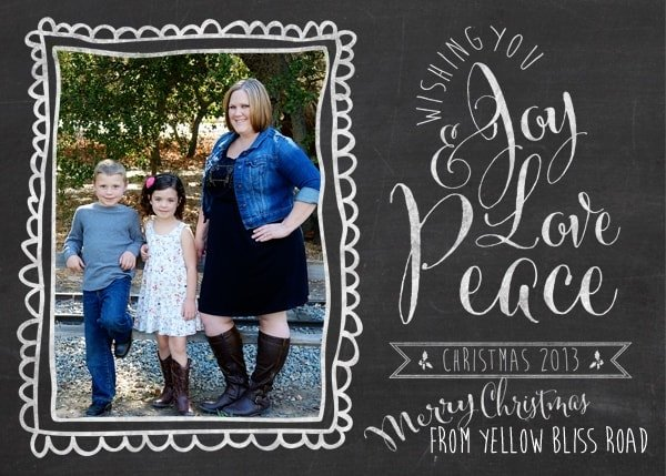 Merry Christmas from Yellow Bliss Road!