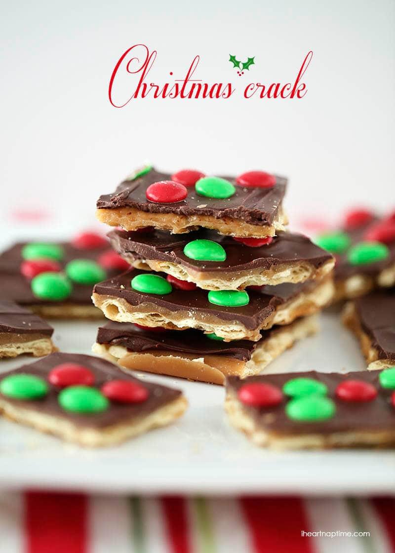 A close up of Christmas Crack