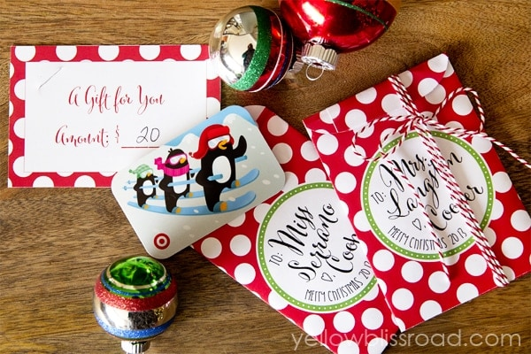 DIY Christmas Gift Card Envelopes 3