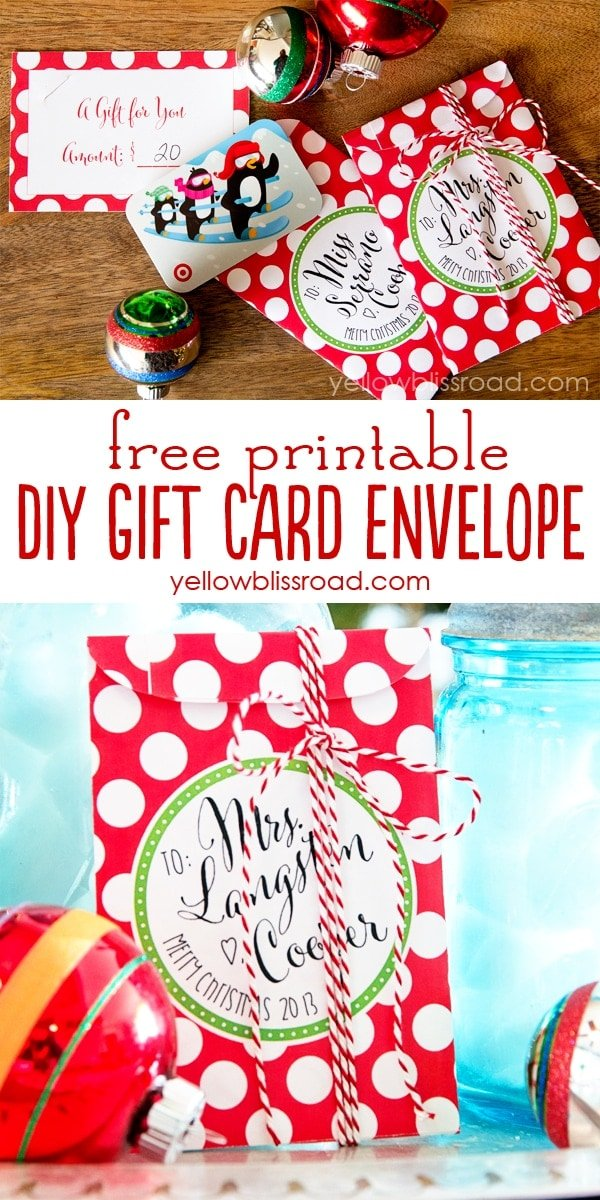 Free Printable Gift Card Envelopes