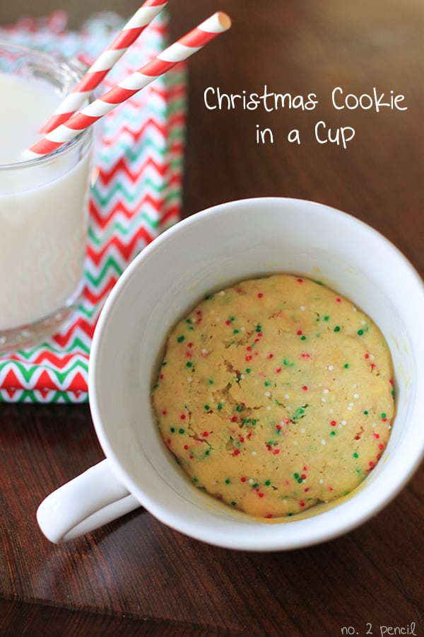 A Christmas cookie in a cup