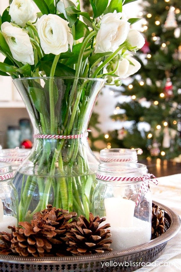 Rustic Floral Advent Centerpiece