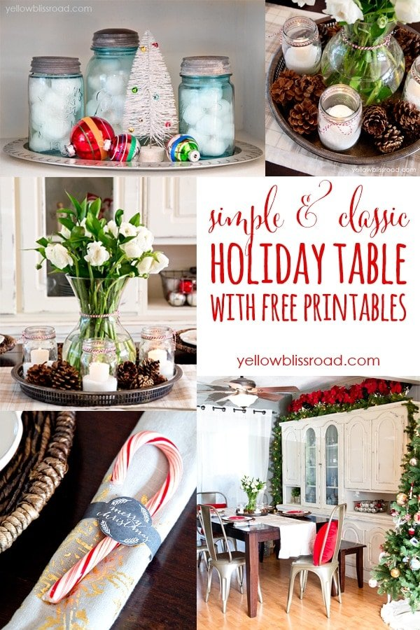 Simple & Classic Holiday Table