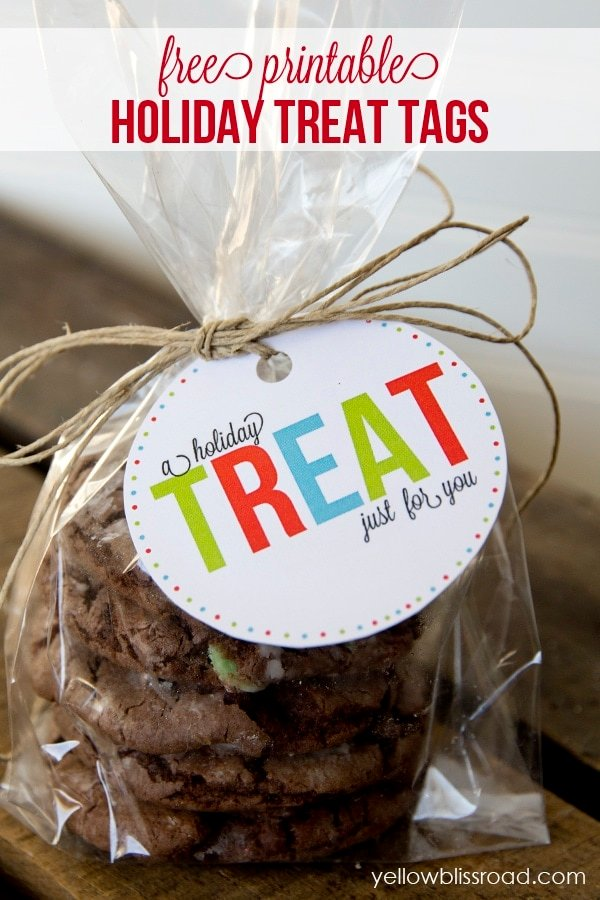 free printable holiday treat tags