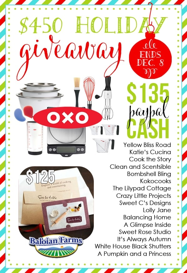 Win this awesome $450 prize pack!!! ends Dec. 8
