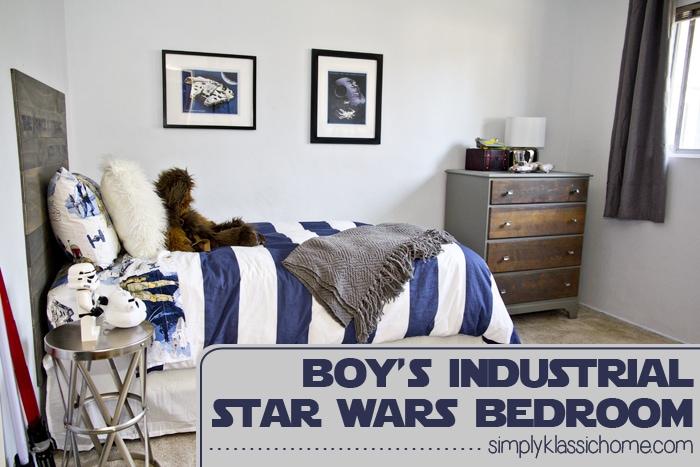 Social media image of Boy\'s Industrial Star Wars Bedroom