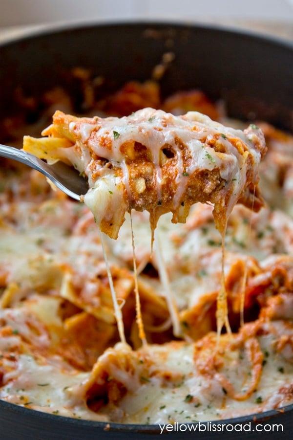 30 minutes Stovetop Lasagna