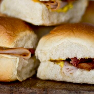 A close up of sliders