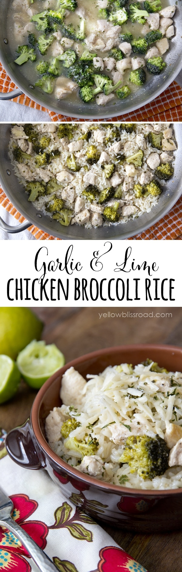 One Pot Lime Chicken & Broccoli Rice