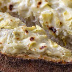 A close up of Artichoke Bread