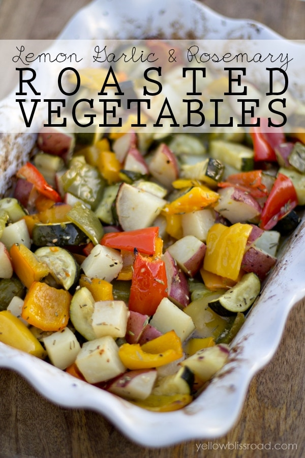 Roasted Vegetables with Lemon, Garlic and Rosemary TITLE