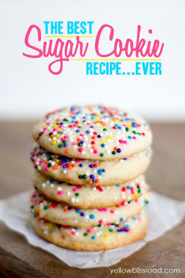 The best sugar cookie recipe ever, and a secret tip for applying the sprinkes!