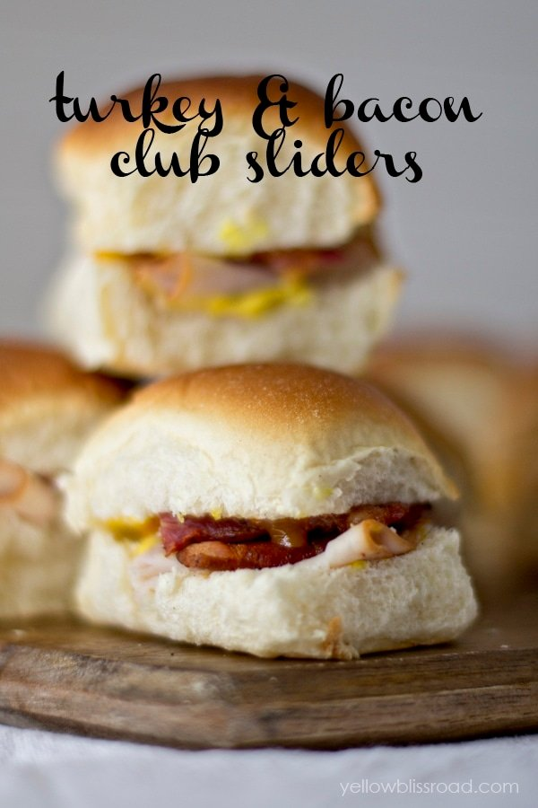 Turkey and Bacon Club Sliders - So easy and they taste amazing!