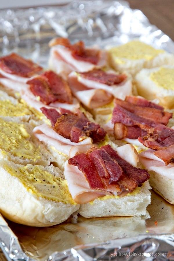Turkey and Bacon Club Sliders2