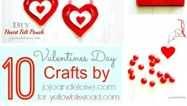 10 Valentine Crafts from JoJo and Eloise