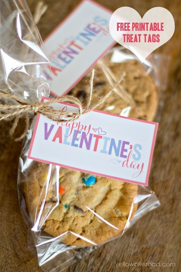 Valentine's Day Treat Tags and Gift Idea