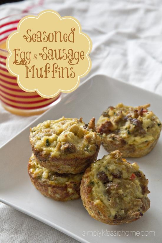 Social media image of Egg & Sausage muffins