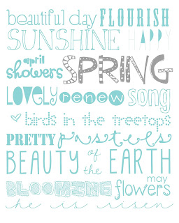 11x14 spring printable light teal