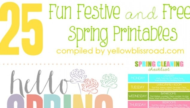 25 Free Printables for Spring
