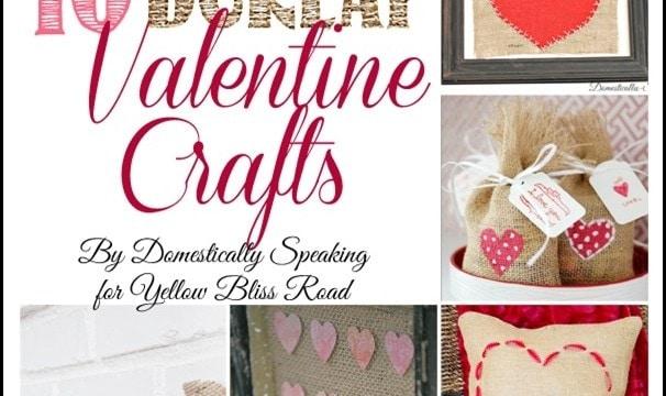 10 Burlap Valentine Crafts