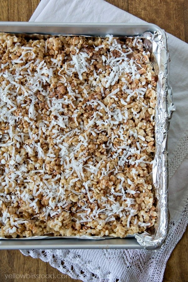 Coconut Creme Krispie Treats
