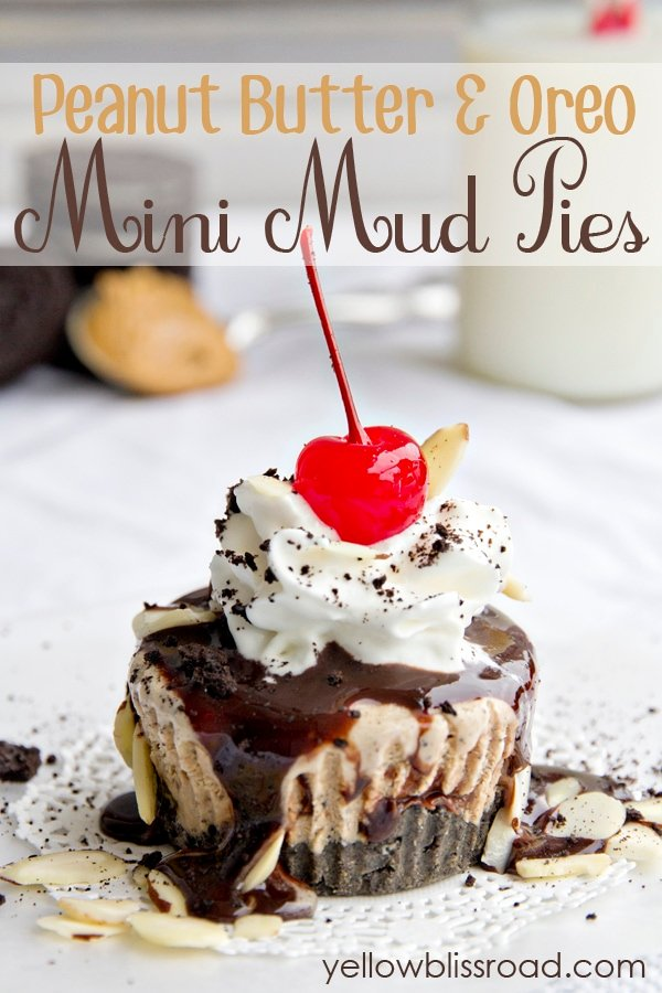 Mini Mud Pies with a Peanut Butter Oreo Crust