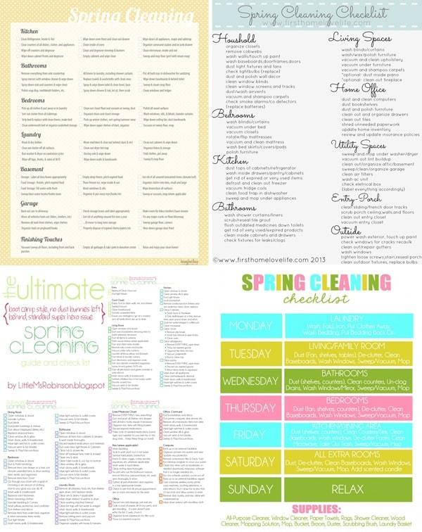 spring checklist printables