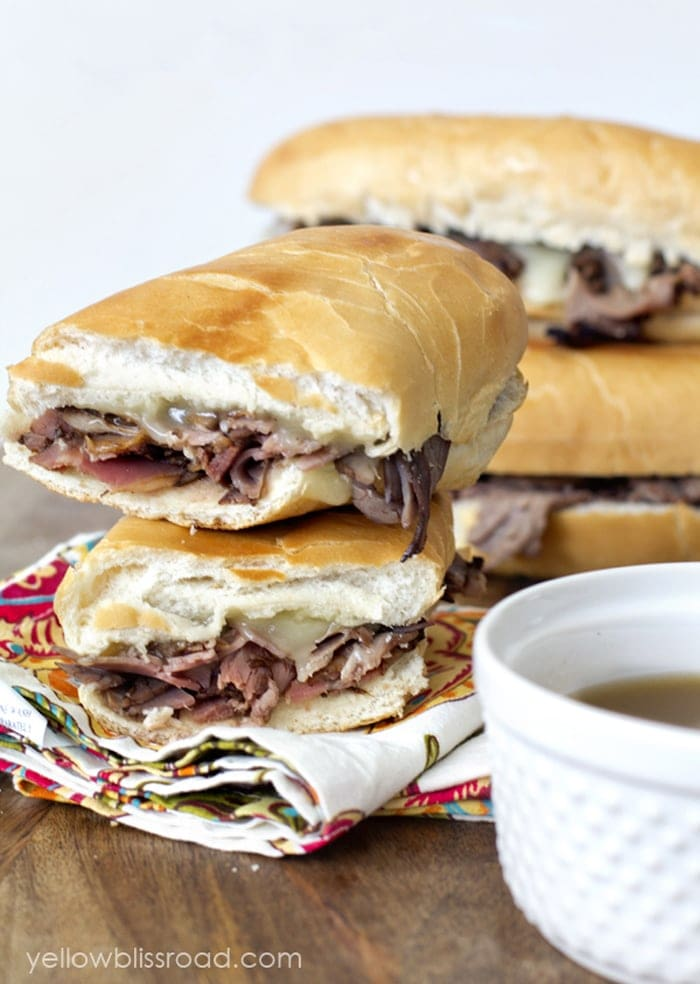 Easy Baked French Dip Sandwiches