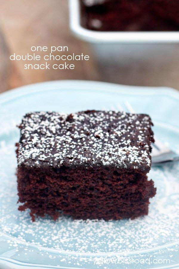 One Pan Double Chocolate Snack Cake