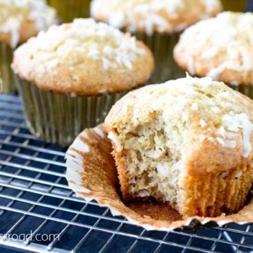 A close up of muffins