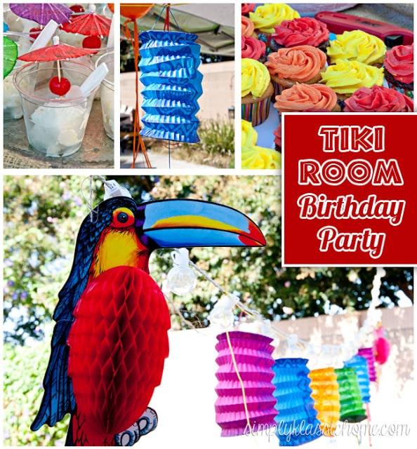 How to plan a backyard Luau/Tiki birthday party!