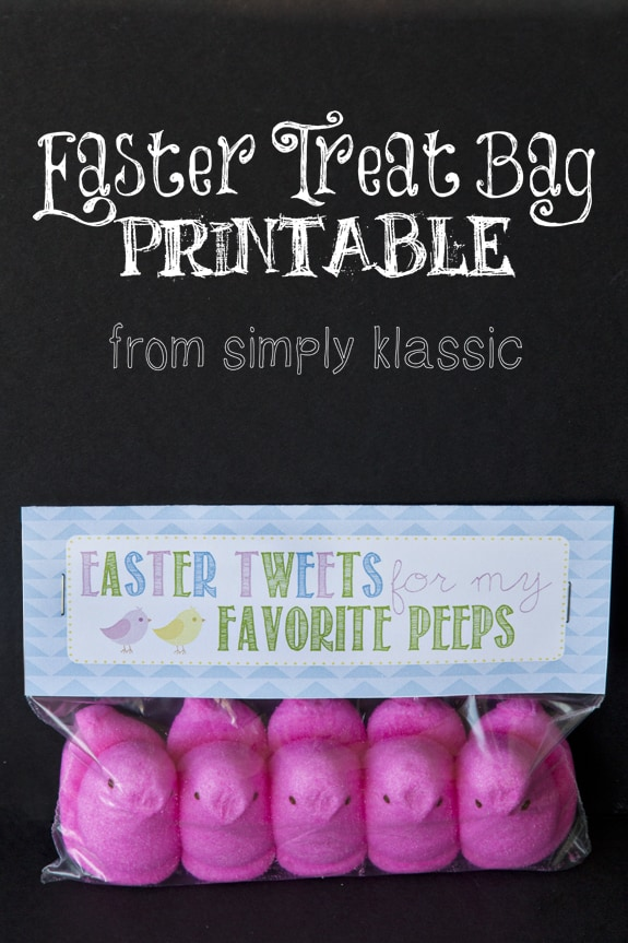 Social media image of Easter Treat Bag Printable