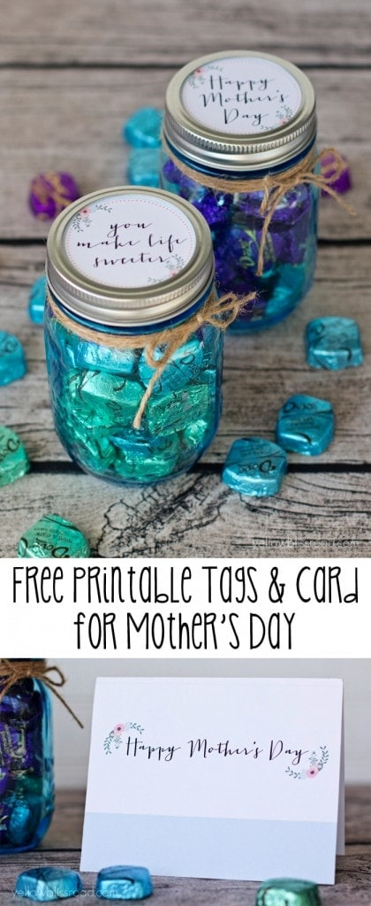 This Free Printable Tag and Card set is perfect for Mother's Day gifts!