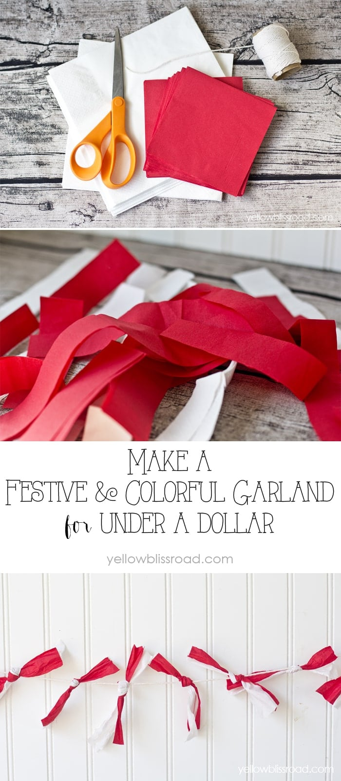How to Make a Colorful and Festive Garland for Under a Dollar