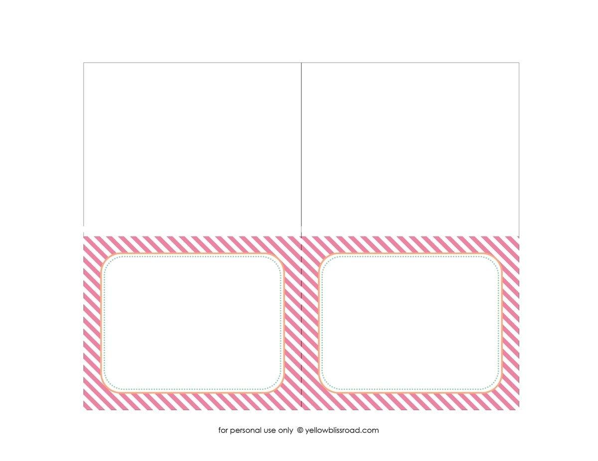 Ice cream sandwich bar for Printable tent card