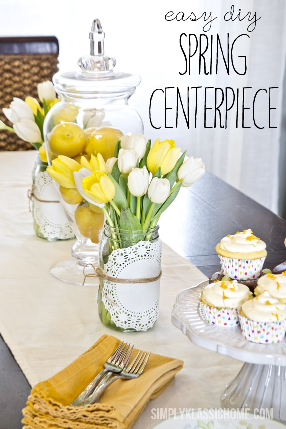 How to Create an Easy Spring Centerpiece {On the Cheap} www.yellowblissroad.com