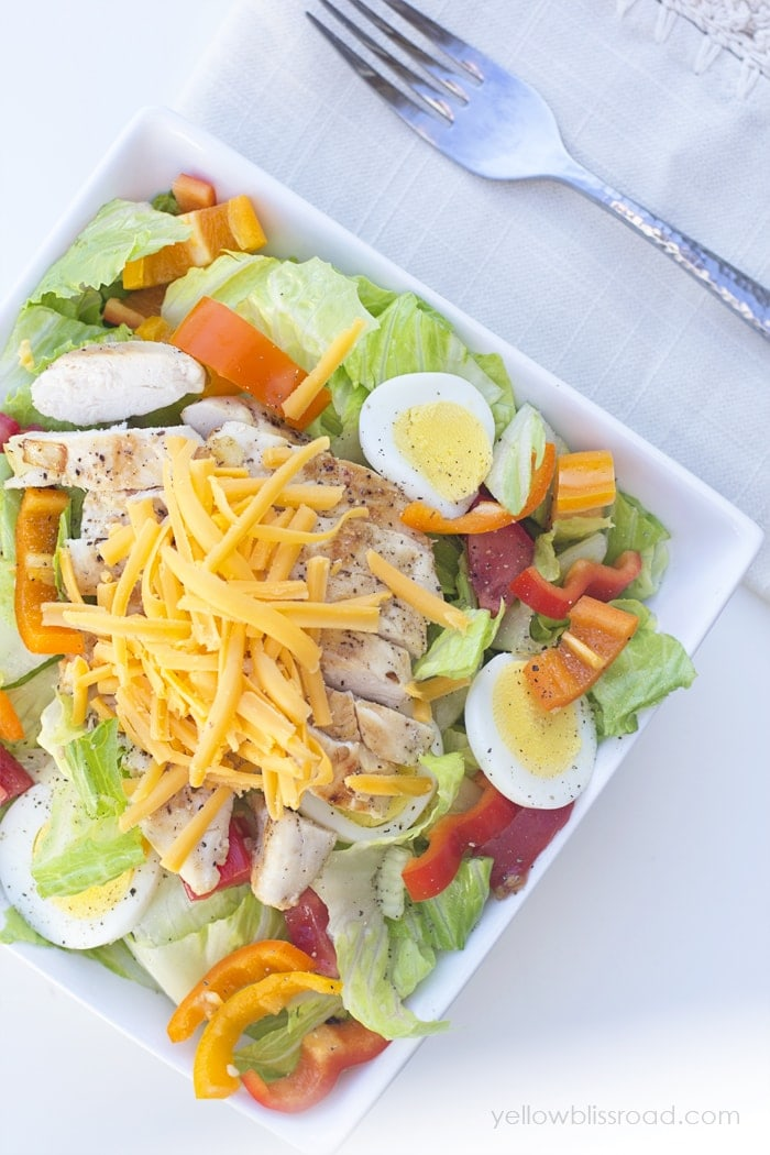 How to make THE BEST Grilled Chicken Salad! This was delicious!!!