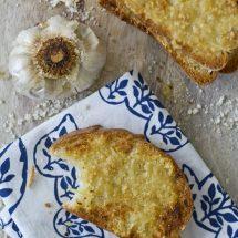 Roasted Garlic and Parmesan Bread