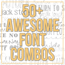 my favorite font combos