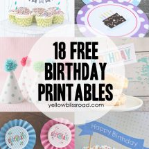 37 Birthday Printables & Cakes and a GIVEAWAY!