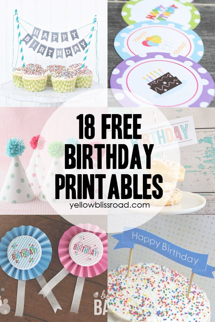 graphic regarding Happy Birthday Printable Sign identified as 37 Birthday Printables Cakes and a GIVEAWAY! - Yellow