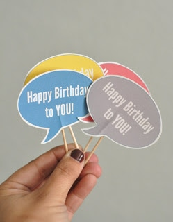 Little happy birthday signs