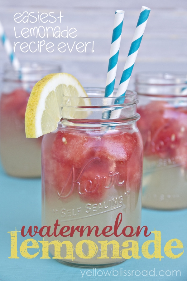 Refreshing Watermelon Lemonade and the Easiest Lemonade Recipe EVER!