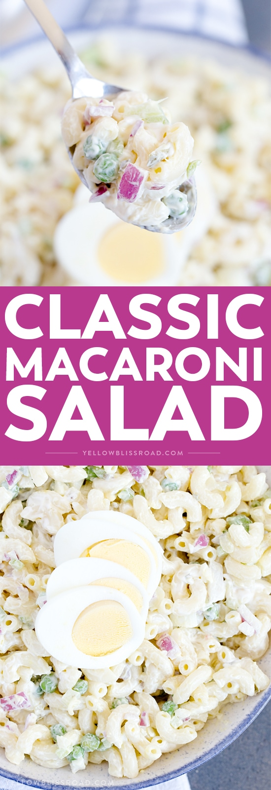 The best macaroni salad two image collage