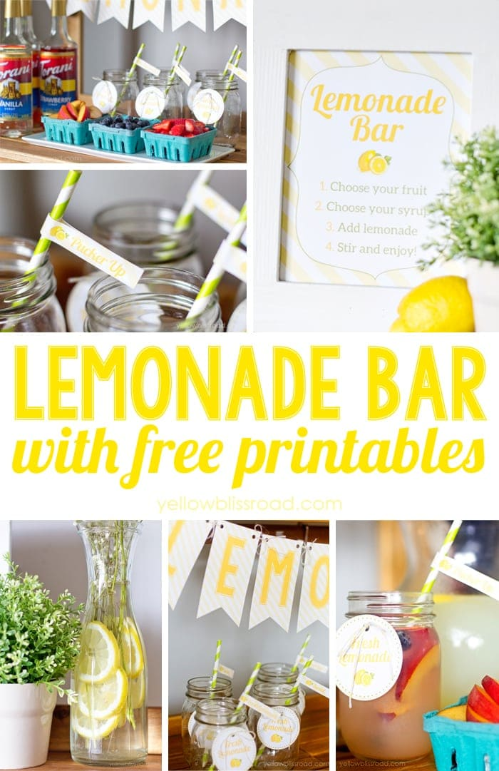 Lemonade Bar with Free Printables