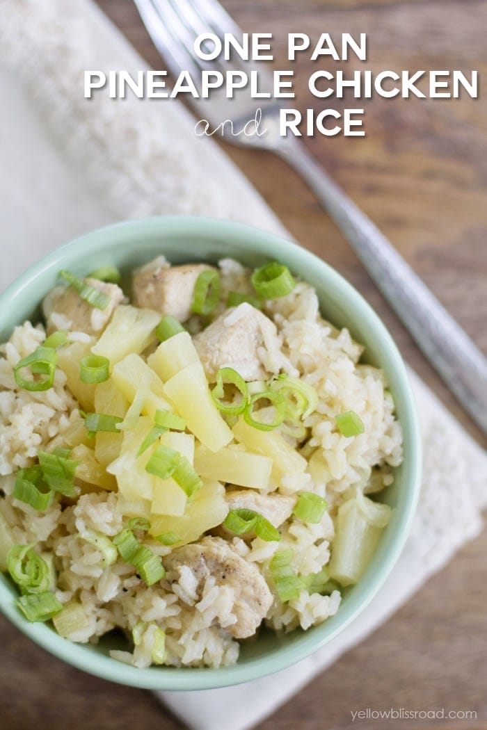 One Pan Chicken and Pineapple Rice