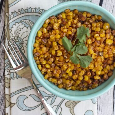 A bowl of corn