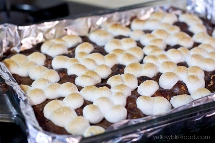 These S'Mores Oreo Stuffed Brownies are the best of summer desserts all rolled into one deliciously ooey gooey treat!