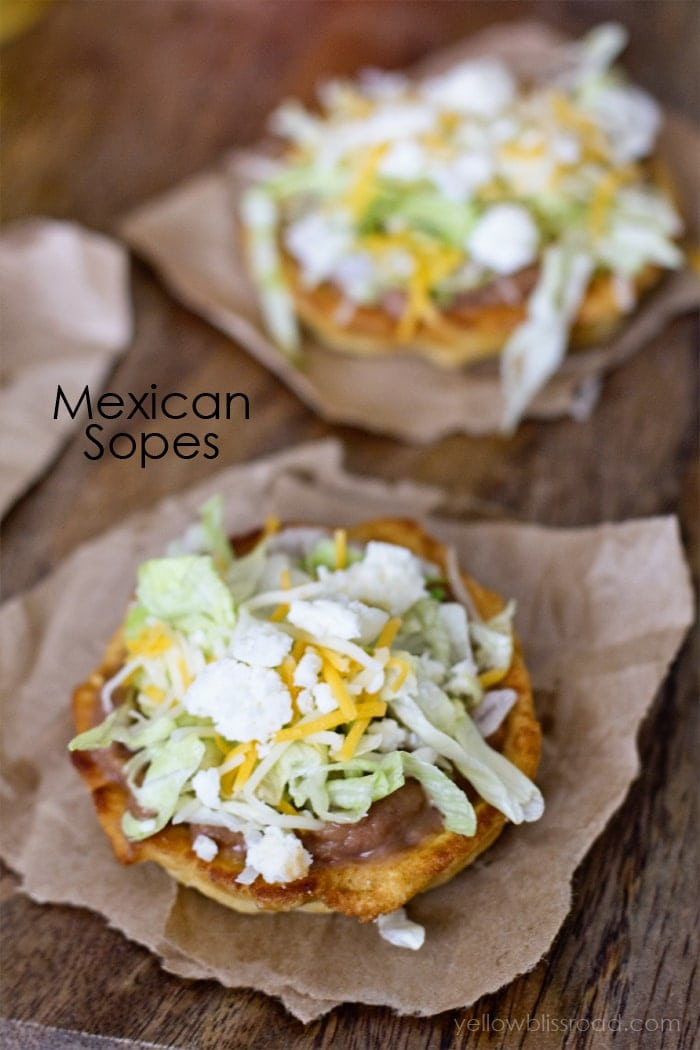 Mexican Sopes Recipe