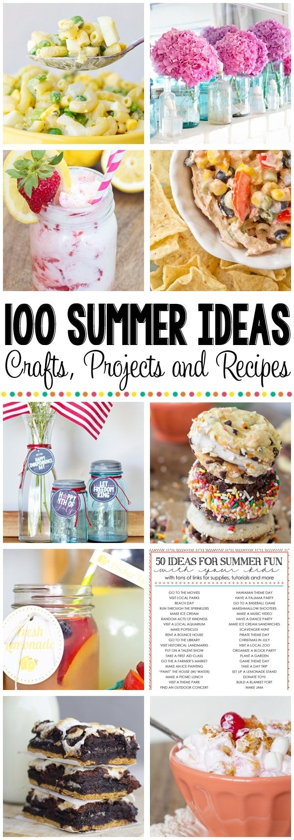 100 Summer Ideas Collage